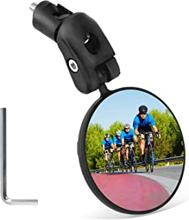 Mempedont bike mirror, bicycle riding rearview mirror, HD safety rearview mirror, convex mirror with adjustable handlebar ...
