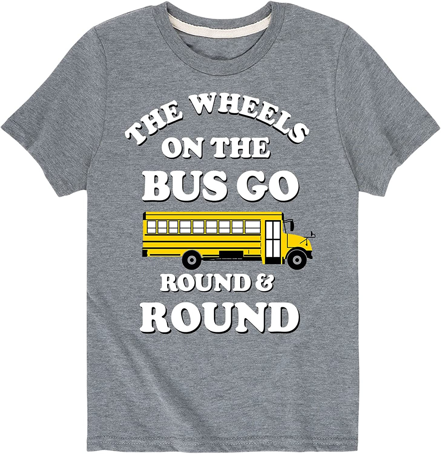 Wheels On The Bus - Sleeve Super intense SALE T-Shirt Seasonal Wrap Introduction Short Graphic Youth