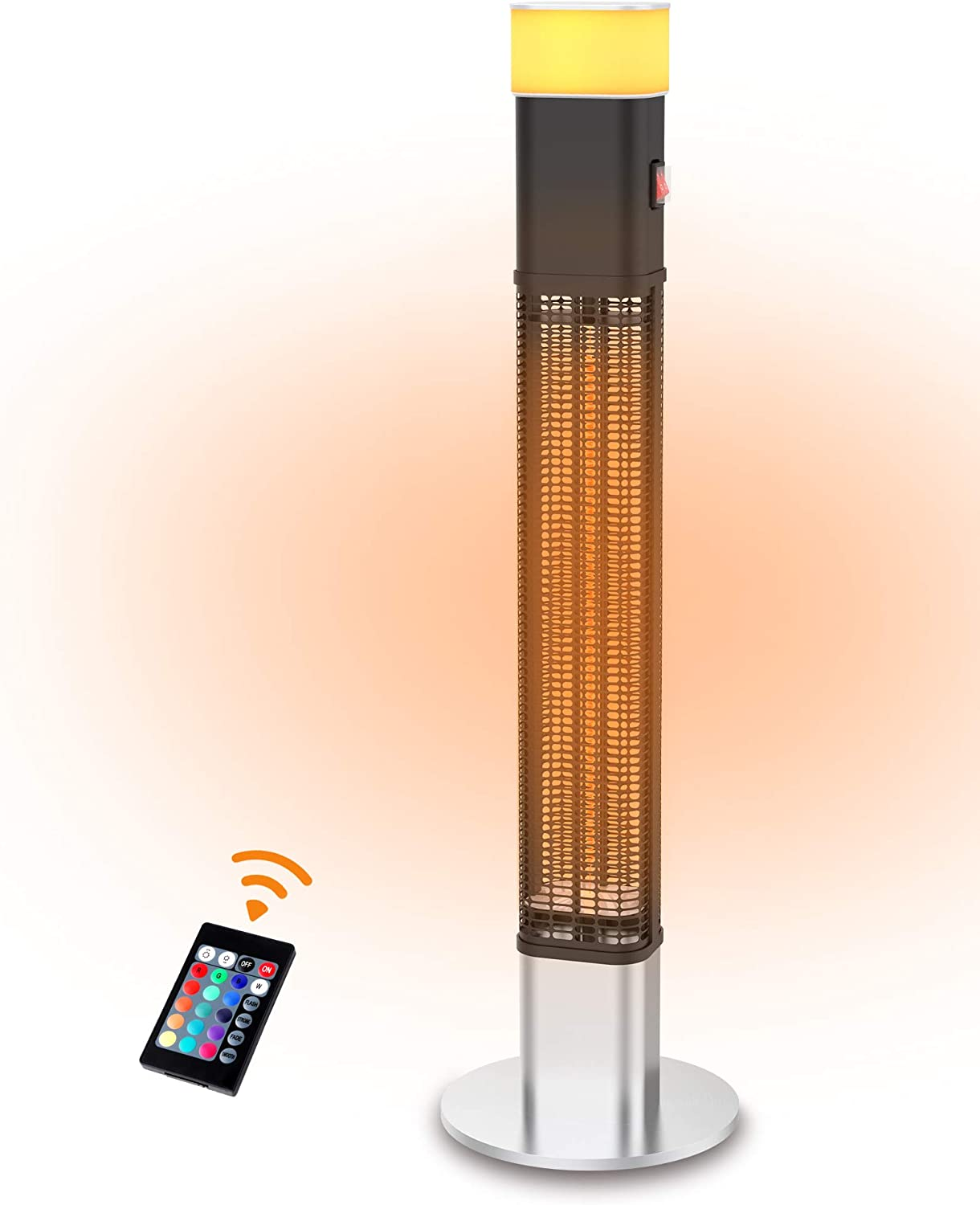 Outlet sale feature PATIOBOSS Max 62% OFF Electric Patio Heater Infrared wi Freestanding