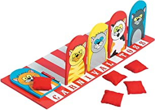 Carnival Cat Bean Bag Toss Game (includes wooden board and bean bags)