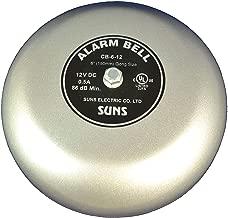 SUNS CB-6-12 Gray 12V Alarm Bell 6 Inch 12 Volt DC (6