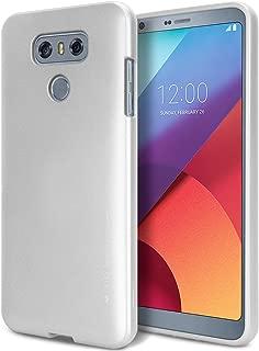 Goospery i-Jelly for LG G6 Case (2017) Slim Thin Rubber Case (Metallic Silver) LGG6-IJEL-SIL
