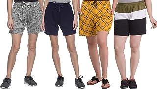 SHAUN Women's Cotton Shorts (Pack of 4)