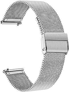 ZXF Correa Reloj, 4 Colores Metal Reloj de Reloj Mujeres Mujeres 14mm 16mm 17mm 18mm 19mm 20mm 21mm 22 mm 23mm 24mm Corre...