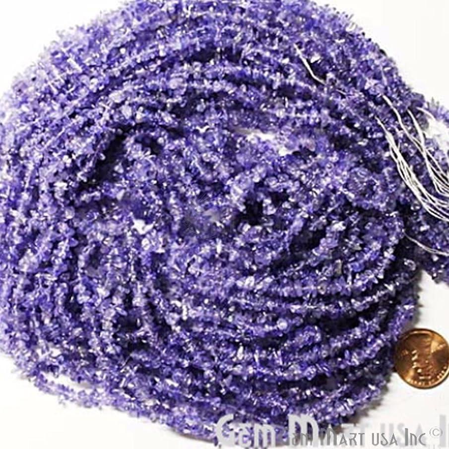 GemmartUSA Tanzanite Chip Chip Beads Natural Stone Beads 1 Strand 34 Inch Jewelry Making Supplies (CHTZ-70001)