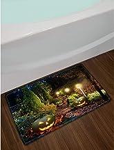 Printed Floor Mat Bath Mat Machine Washable Home Garden Path Patio Light Halloween Pumpkin Lantern Bathroom Rug Indoor Non...