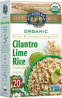 Lundberg Cilantro Lime Rice Entree, 5.5 Ounce (Pack of 6), Organic