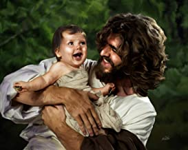 """Deb Minnard """"Jesus and Laughing Baby"""" by Award Winning Artist, Wil Bring Laughter and Joy to Your Home with This 8x10, Print That Will Last a Lifetime. Great Collectors Item."""