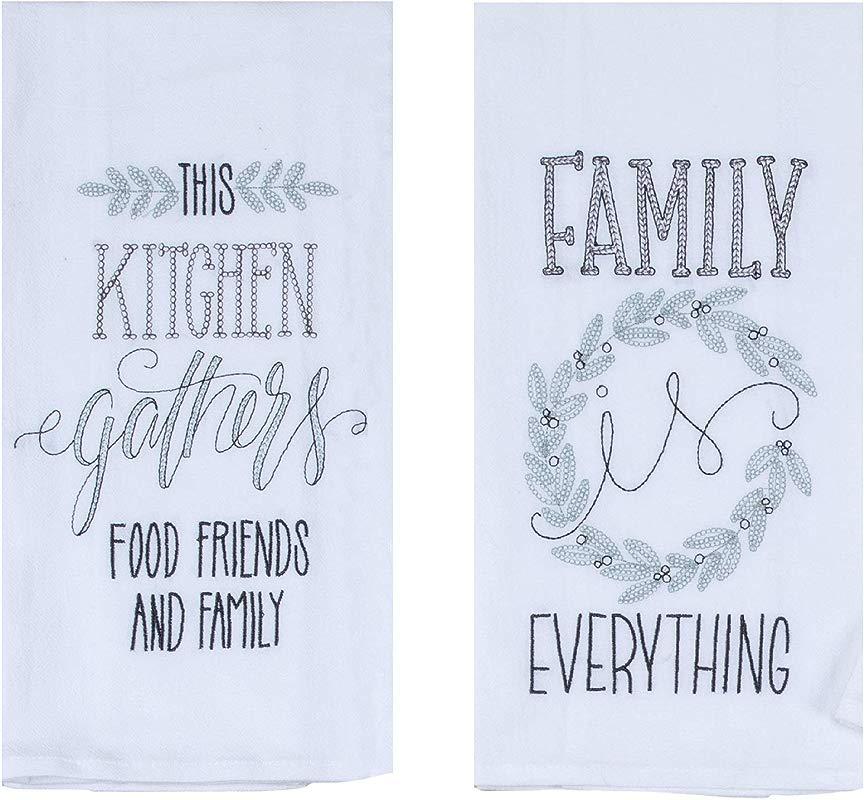 Kay Dee Designs Family Food Friends Farmhouse Flour Sack Towels Bundle Of 2