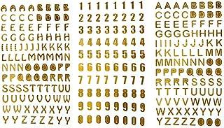 Artibetter 3 Feuilles Alphabet Lettre et Autocollants de Nombre Autocollants Auto-adhésifs Brillants pour l'artisanat Scra...
