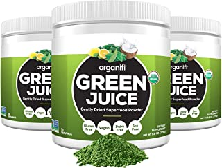 Organifi: Green Juice - Organic Superfood Supplement Powder - 30 Day Supply - USDA Certified Organic Vegan Greens- 9.5 Ounce (Pack of 3)