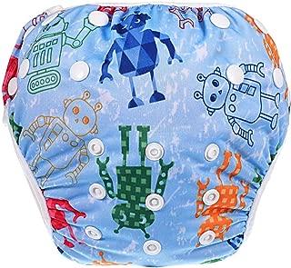 HAUTOCO Swim Diaper Nappy Pants Reusable Adjustable Infant Baby Boy Girl Toddler,Blue