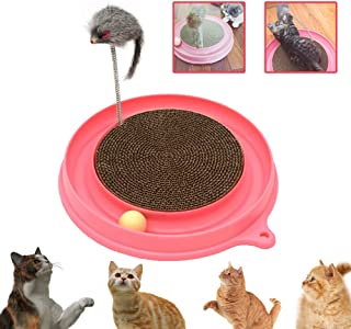 AUOON Cat Turbo Scratcher Toy, Cat Turbo Toy, Post Pad Interactive Training Exercise Mouse Play Toy with Turbo and Ball