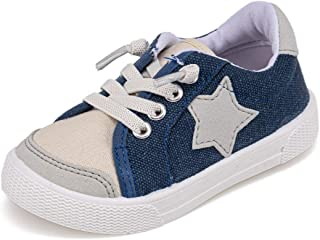 Toddler Girls Canvas Sneakers Comfortable Anti-Slip First Walking Shoes