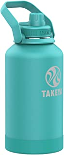 Takeya Pickleball Insulated Water Bottle with Straw Lid, 40oz Dropshot
