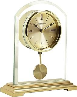 London Clock Co 20 cm Gold Arch Pendulum Mantel Clock