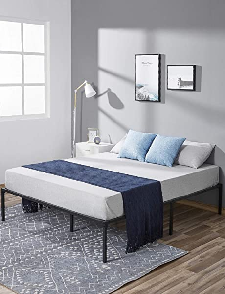 Kealive Platform Bed Frame 14 Inch Heavy Duty Steel Slat Noise Free And Anti Slip Mattress Foundation Metal Bed Frame No Box Spring Needed Maximum Under Bed Storage Easy Assembly Full