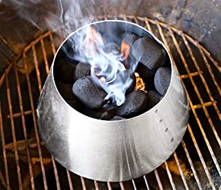 LUTANI BBQ Kettle Grills 22 26.75 WSM - Stainless Steel BBQ Kettle Grill Accessories - Charcoal Kettle Accessory