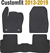 Ucaskin Car Floor Mats Custom Fit for Chevrolet Chevy Malibu 2020 2019 2018 2017 2016 Odorless Washable Rubber Foot Carpet Heavy Duty Anti-Slip All Weather Protection Car Floor Liner-Black