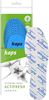 Kaps Actifresh - hygienic Shoe Insoles with Antibacterial Technology by Sanitized, Made in Europe, All Sizes, Cut to fit