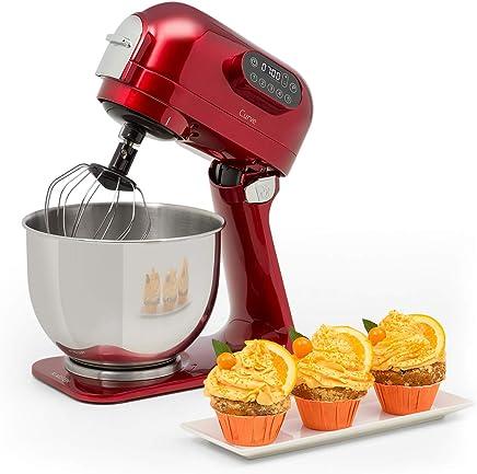 Klarstein Curve Robot de cocina • Mezclador • Pantalla LED • 5 velocidades • Sistema de rotación planetaria • 5 litros • Carcasa metálica • Accesorios • Rojo
