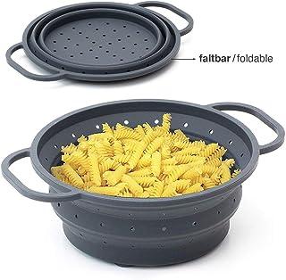 grigio scolapasta in silicone Accessori da cucina adatto a tutte le pentole e ciotole colino