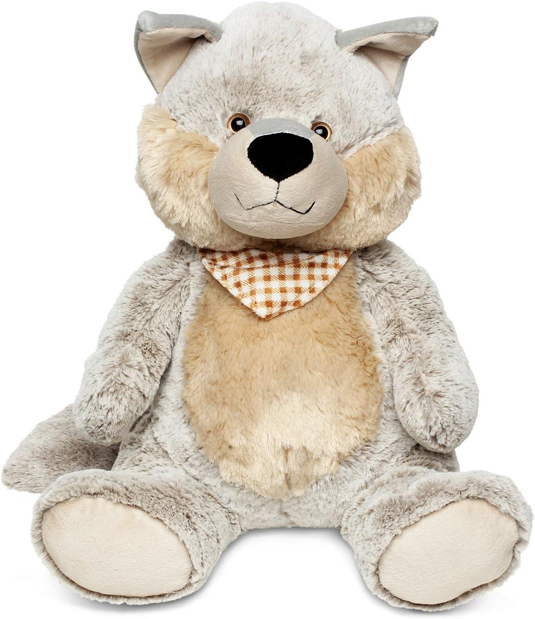 DolliBu Plush Wolf Stuffed Animal Max 48% OFF Industry No. 1 Pillow Soft Anima Size Super -
