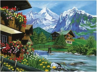 Reeves Paint by Numbers Paint Set - Mountain Chalet 13 in. h x 15.8 in