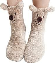 Slipper Socks Fuzzy Socks Fleece Crew Socks Animal Winter Socks for Women Girls