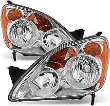 ACANII - For 2005-2006 Honda CRV CR-V [UK Built Models] Chrome Housing Headlights Headlamps Pair Driver + Passenger Side