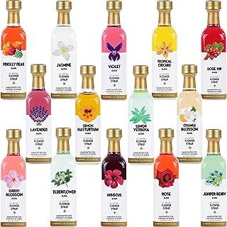 Ultimate Floral Cocktail & Soda Syrup Set - 14-2 oz Glass Bottles - 56 servings!