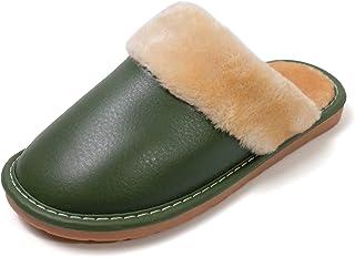 شباشب Puxowe شتوية دافئة للنساء مع رغوة الذاكرة، نعال منزلية، أحذية نوم داخلية دافئة من القطيفة خضراء مقاس 6/6.5 أمريكي