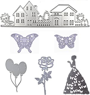 Cutting Dies Cut Stencils for DIY Scrapbooking Butterfy House Beauty Balloon Rose Flower Photo Album Decorative Embossing DIY Paper Cards (Dies 16)