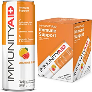 IMMUNITYAID Wellness Blend, With Echinacea, Zinc, Astragalus and Vitamin C, Only 45 Calories, 100% Clean, Vegan and Glute...