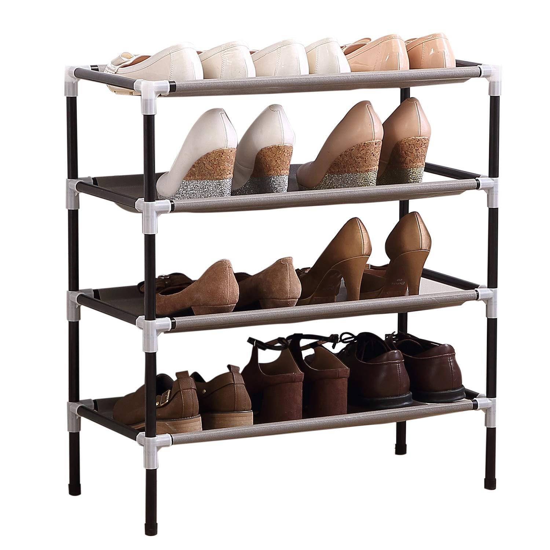 Acornfort S 109 4 Tiers Adjustable Shoe Storage Shoe Rack Organiser Shelf Hold Stand For 12 Pairs Shoes Using Buy Online In Honduras At Honduras Desertcart Com Productid 51326360