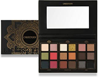LADYBRO WITH ME - Obsdian 18 Shade Eyeshadow Palette - including Cool and Warm tones with Matte and Shimmer effects - Multicolour Professional Makeup set OBS-18