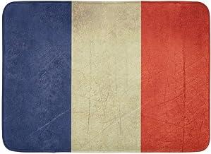 Alfombras de baño Alfombras de baño Alfombra de Puerta para Exterior/Interior Estado de Sovereign francés Bandera del país Francia en Colores Oficiales Decoración de baño Alfombra Alfombra de baño