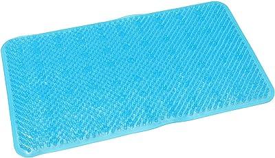 バスルームマット シャワーグラス ブルー