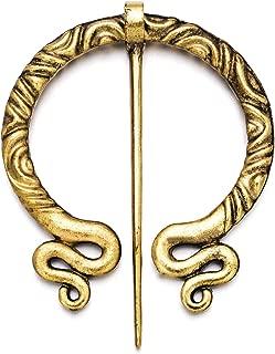 gold snake brooch
