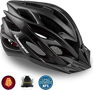 Shinmax Bike Helmet, CPSC/CE Certified Adjustable Light Bicycle Helmet Men&Women Road and Mountain Bicycle Helmet with Visor&Rear Light met Specialized Cycling Helmet for Adult