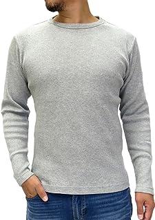 [エドウィン] Tシャツ メンズ 長袖 無地 ワッフル