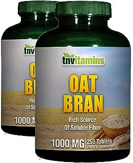 TNVitamins Oat Bran Tablets 1000 Mg | 2 x 250