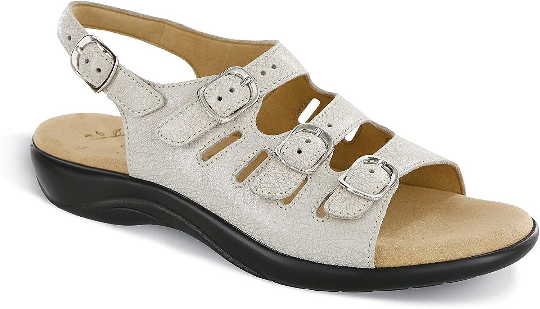 SAS Womens Mystic Open Toe Casual Slingback Sandals, Web Linen, Size 7.5