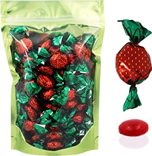 Strawberry Filled Flavored Candies, Individually Wrapped in Strawberry Wrap Design (8 Oz)