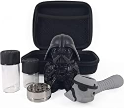 5-Piece Star Wars Grinder Set, Darth Vader Herb Grinder, Stormtrooper Piece Unbreakable Silicone, Childproof Lid Mini Jars...
