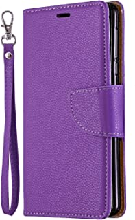 Positive Cover Compatible with Samsung Galaxy S10 plus, purple PU Leather Wallet Flip Case for Samsung Galaxy S10 plus