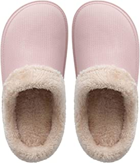 Selotrot Pantoufles pour femme et homme – Automne Hiver Chaud en velours coton Chaussons Unisexe à Pois Épais Antidérapant...