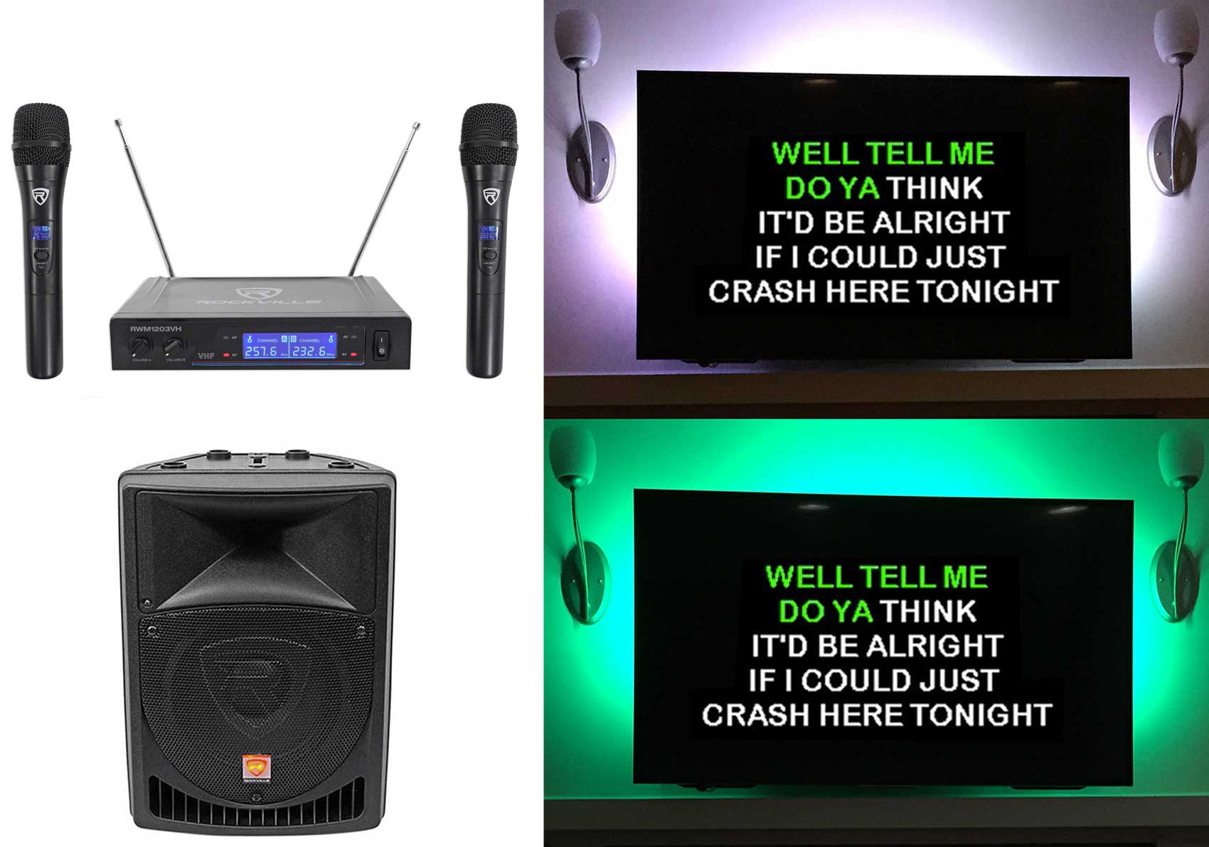 Rockville Powered Karaoke Wireless Microphones