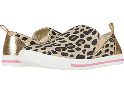 crewcuts by J.Crew Cat Slip-On Sneaker (Toddler/Little Kid/Big Kid) (Tan/Black/Pecan) Girl