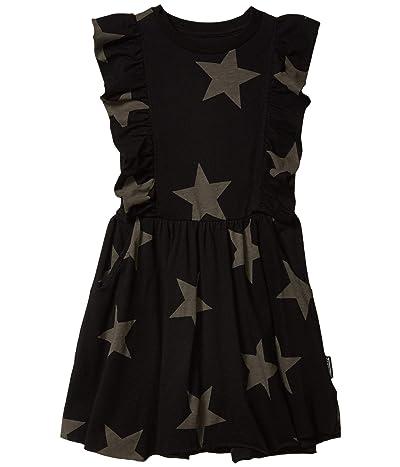 Nununu Ruffled Star Dress (Little Kids/Big Kids) (Black) Girl